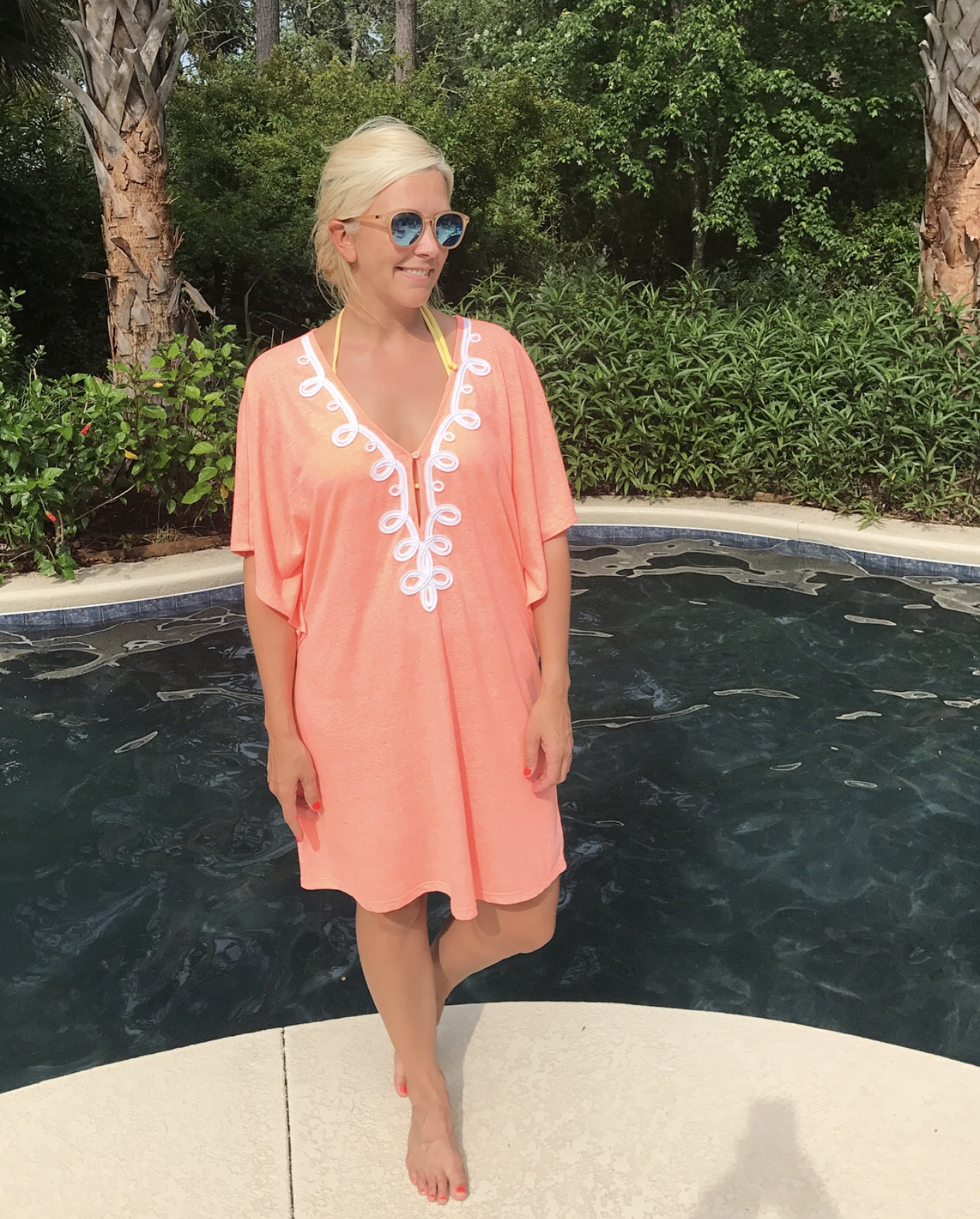 f503ab8422af01 Balletta Cover-Up – Like the Bonita Cover-Up, I've worn this one so much  this summer too! I'm wearing a medium, but probably should've done a small.