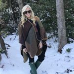 Walking in a Winter Wonderland + A $23 Poncho You'll Love!
